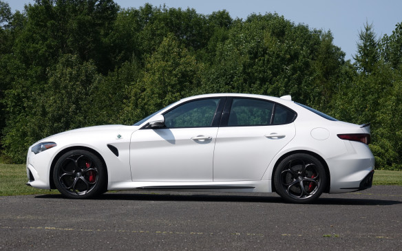 <p>With perfect 50/50 weight distribution and a commendably low center of gravity for all models, balance is the key to the inspired road manners of Giulia sedans. As expected, this low-slung and muscular Quadrifoglio feels radically different than the lighter Ti. Especially models equipped with Q4 all-wheel drive that ride a full 24mm higher than their fastest sibling. Yet, the Giulia Ti Sport is agile, precise and a joy to drive at all times. Its turbocharged 'four' doesn't quite deliver the punch you expect from 280 horsepower but still pushes it to 100 km/h in a decent 5.8 seconds.</p>