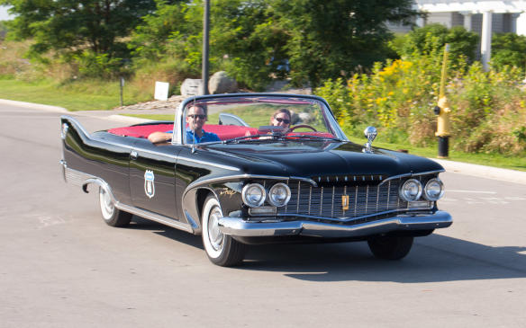 <p>On both days, Hagerty, the classic car insurance provider. offered attendees opportunities to drive five different 60s-era classics, including this 1960 Plymouth Fury convertible.</p>