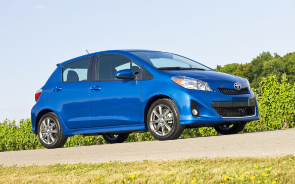 <p>The French-made Toyota Yaris hatchback brings some Continental flavour to what is a pretty mundane subcompact segment with its eager turn-in, communicative steering and spritely presence. The Yaris is motivated by an underwhelming 106-hp, 1.5-L four cylinder engine, which comes packaged with a five-speed manual transmission as standard equipment. While the engine won't encourage many drivers, Gaelic or otherwise, to hog the left lane of the Autoroute, the operation of the manual is well above par in the category. Gear changes are positive and clutch take-up is predictable, given the scant 103 lb-ft of torque on tap. It's surprising fun and easy to row – the Yaris is the definition of lightweight – making it a forgiving car to learn on. The iron-clad reliability of the Yaris only sweetens the deal.</p>