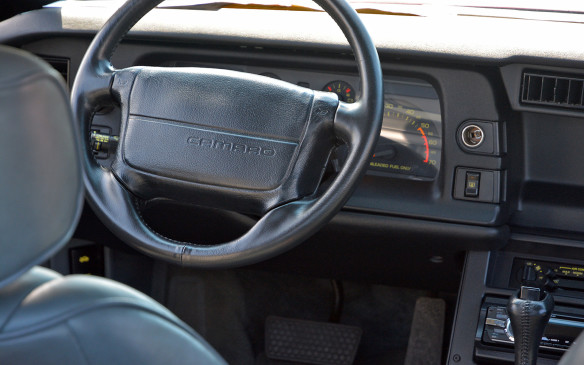<p>The cabin of a 1992 Camaro Z28. The final year for the quintessentially eighties 3rd­-gen Camaro was also the 25th anniversary for the model. This would also be the last time, until now, that a Camaro would be built in the US as production moved to Sainte­Thérèse, Quebec for 4th­gen models and then to Oshawa, Ontario for the 5th­gen. Production of the new Camaro Six is slated to return south of the border as it heads to GM's Lancing, Michigan assembly facility later this year.</p>
