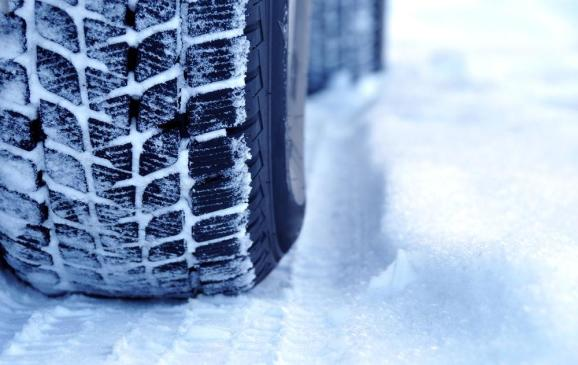 <p>Winter tires in the snow</p>