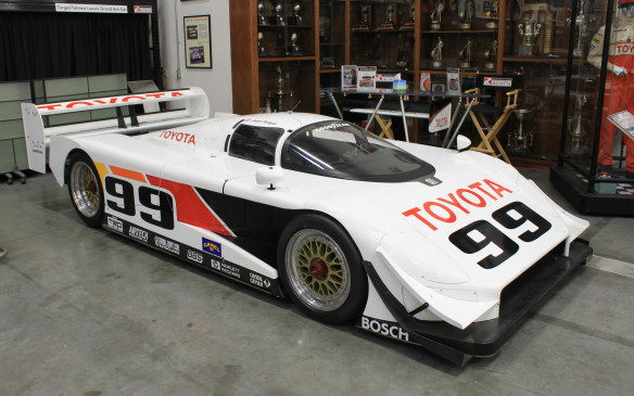 <p>Toyota's IMSA Grand Touring Prototype cars dominated the series in the early 1990s. This Eagle Mark III, built by Dan Gurney's AAR operation and driven by Juan Fangio II, won 21 of its 27 races as well as manufacturers' and drivers' titles in both 1992 and 1993.</p>