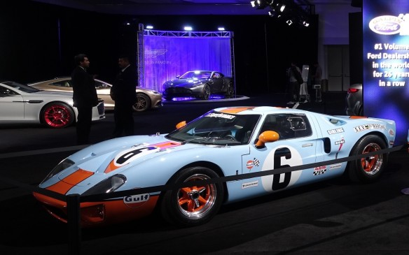 <p>Galpin has been the world's largest Ford dealer for more than 25 years but the group sells ten other brands, from Aston Martin to Volvo, and has its own room at the L.A. Auto Show. This original GT40 in the famous Gulf racing livery reflects the group's ongoing affection for the Blue Oval.</p>