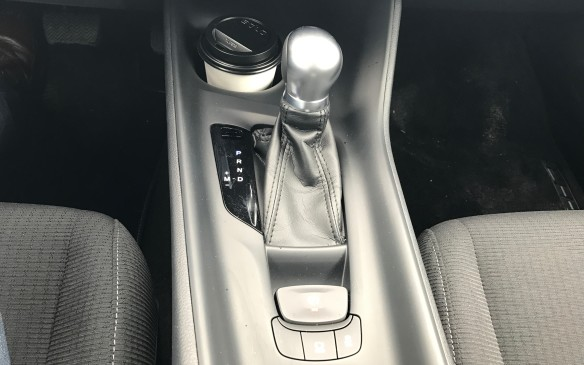 <p><strong></strong>The only transmission available is a CVT (continuously variable transmission), which saves fuel and is typically uninspiring to drive, although this one is set up to mimic an actual seven-speed transmission. You can jog the shift lever to the left and change the ratios manually if you want, but paddle shifters would be more fun.</p>