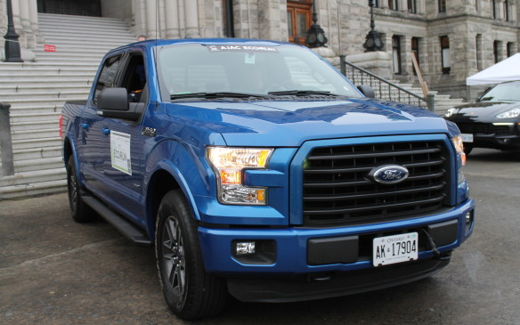 <p>The largest vehicle on the EcoRun fleet, the big Ford F-150 has a high-efficiency 2.7-litre EcoBoost engine under its hood to create 325 hp and 375 lb-ft of torque. Its all-new aluminum-alloy body is more than 300 kg lighter than the previous generation, so it didn't waste fuel hauling heavy metal down the road.</p>