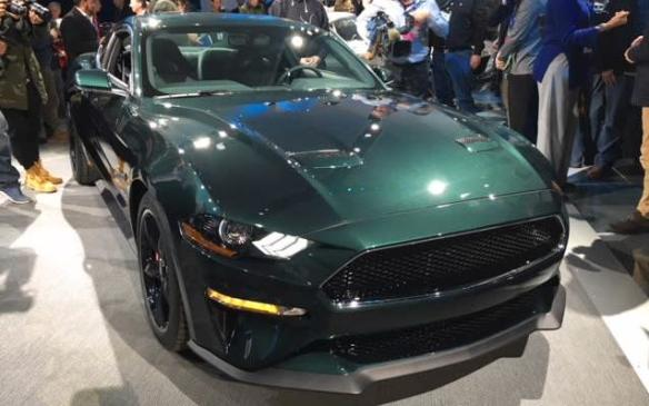 <p>It may not be the most important car in the show in terms of potential sales volume but a sure winner in terms of enthusiast appeal is the return of Ford's Mustang Bullitt for 2019. True to the original, it incorporates all the key features of the Mustang featured in the 1968 movie, <em>Bullitt, </em>starring Steve McQueen.</p>