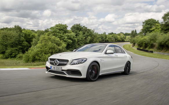 <p>Powered by an all-new 4.0-litre, biturbo V-8 engine rated at 503 horsepower in the S model, mated to an AMG Speedshift MCT 7-speed sport transmission, the C 63 S also offers Mercedes' latest advanced driver-assistance and safety technologies</p>