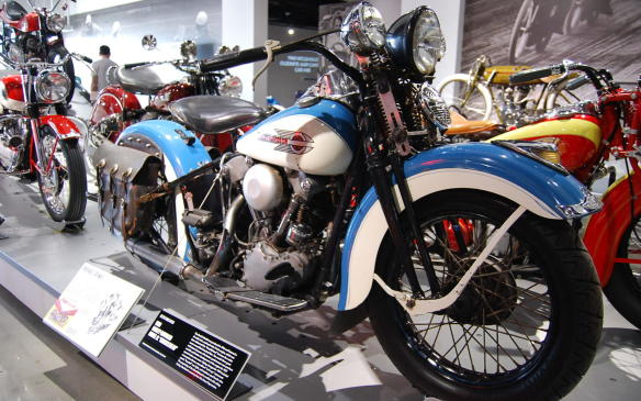 """<p>With the economy struggling to get out of the Great Depression, Harley-Davidson needed a new model to boost sales. The first of the EL Model lineup produced in 1936, featured a 61-cubic inch overhead-valve V-Twin engine, later nicknamed the """"Knucklehead"""" because the rocker covers resembled clenched fists.</p> <p>With better performance over previous models and further development of the engine for 1937, the EL Model continued to grow in popularity and sales. By 1939, styling changes that included an updated paint scheme, an instrument panel streamlined to look like """"cat's-eyes,"""" a """"boattail"""" rear light and stainless steel fender trim, helped to bolster sales.</p>"""