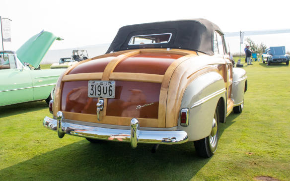 <p>That class also included this1947 Ford DeLuxe Sportsman, one of the last of the real woodies.</p>