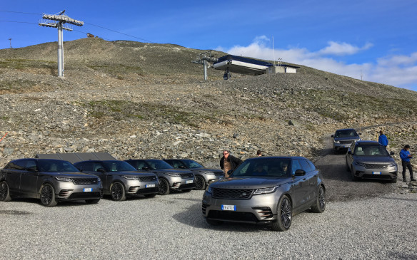 <p>A steep, two-kilometre climb to have brunch on top of the ski mountain at Strandafjellet, quite literally was the climax of our drive in the Velar. It was the perfect opportunity to test the All Terrain Progress Control system (ATPC) that is nothing less than low-speed cruise control. Once ATPC is activated, you simply set the speed, from about 4 to 30 km/h, by using the cruise control switches on the steering wheel, release the brakes and let the Velar rip. Such a long, steady climb, on a rocky surface, is the system's best trick, indeed.</p>