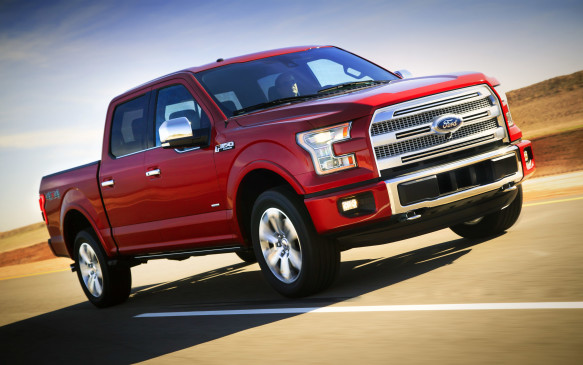 <p>Dubbed the Oil Patch Cadillac, a Ford F-150 Platinum says you're arrived – and you've brought your toys with you. All-new for 2015, Ford engineers specified lightweight aluminum body panels to help shed some 300 kg of mass (although its barely lighter than GM's full-size pickups). The military-grade alloys are made in a variety of thicknesses to ensure durability as well as lightness. Less mass means more payload and towing capacity – a robust 11,100 pounds in Platinum trim – thanks to the full ladder-type frame that uses more high-strength steel than the outgoing model did.</p>