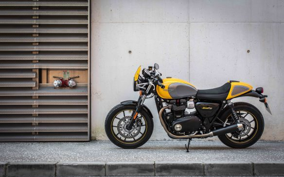 <p>Not to be left behind with the race for retro, Triumph's new café racer is a more comfortable version of its 900 cc Thruxton, which is now bored out to 1200 cc and considerably more powerful. The Street Cup is no slouch, but it's a more forgiving bike: you don't need to go fast to appreciate the ride.</p>