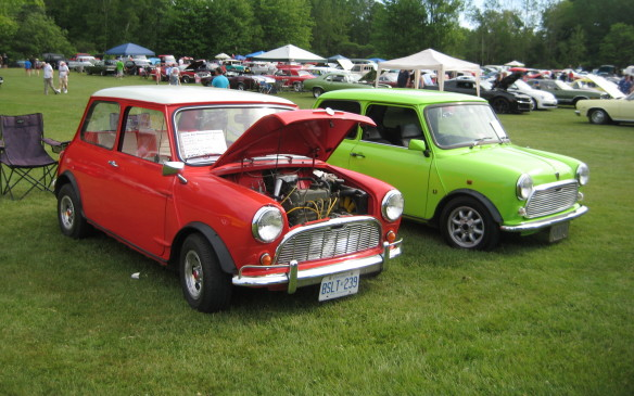 <p>Here's a pair of real Minis, not the bloated modern clones that have usurped their name and image.</p>