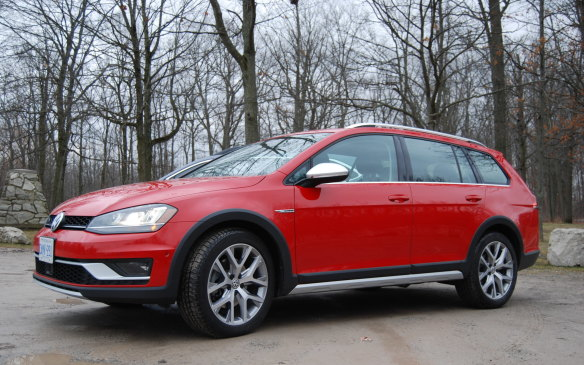 <p>The Alltrack shows well - with all that chrome trim and a sassy cherry red finish. Plus, it comes well prepared with a roof rack for all sorts of outdoorsy equipment. But it's not the car you wanna get dirty down an obstacle-laden country road with mud holes and off-camber terrain.  It's too pretty for that. </p>