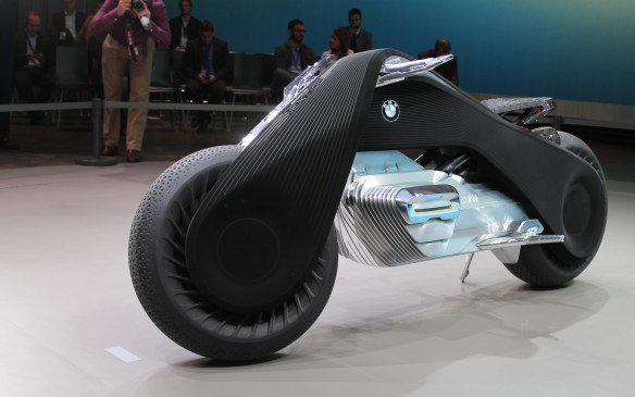 <p>And the motorcycle of the future is so safe that its rider won't need to wear a helmet or protective clothing, because it will never crash.</p>