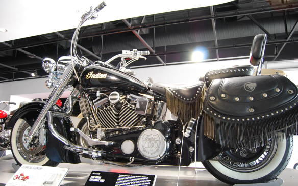 """<p>A new line of Indian motorcycles began production in 1998, not long after the Indian Motorcycle Company of America (IMCOA) was awarded the Indian name, in a plant in Gilroy, California.</p> <p>To celebrate Indian's centennial, the Indian Motorcycle Company of America produced a limited production 100<sup>th</sup> Anniversary Edition of each model, the Chief, Scout and Spirit, sponsoring a cross-country road trip from the original headquarters in Springfield, MA to its new home in Gilroy.</p> <p>After the first """"Gilroy Indian"""" was dubbed the Chief, IMCOA ended its five-year production run, closing its doors in 2003.</p>"""