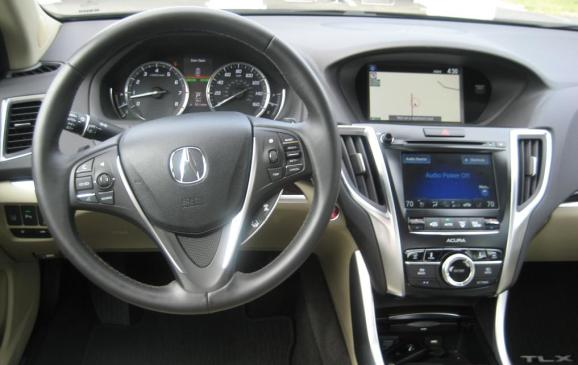 2015 Acura TLX - steering wheel and centre stack