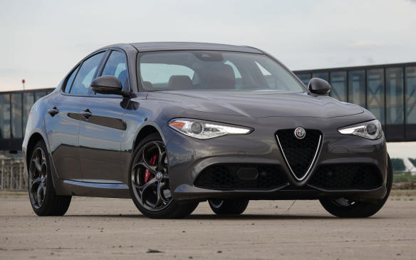 <p>All versions of the new Giulia are built on Alfa Romeo's all-new 'Giorgio' architecture, designed by Alfa Romeo engineers as a lightweight, rear- or all-wheel drive platform with a low centre of gravity. The gorgeous, triangular 'Trilobo' grille, also shared by all models, is unmistakable and truly iconic. The Giulia Ti we tested should be popular in Canada with a Q4 all-wheel-drive system that combines an active transfer case and a front axle that free-wheels when traction is good, to improve fuel economy. It came with the Sport group that adds these attractive, split-spoke 19-inch alloy wheels.</p>