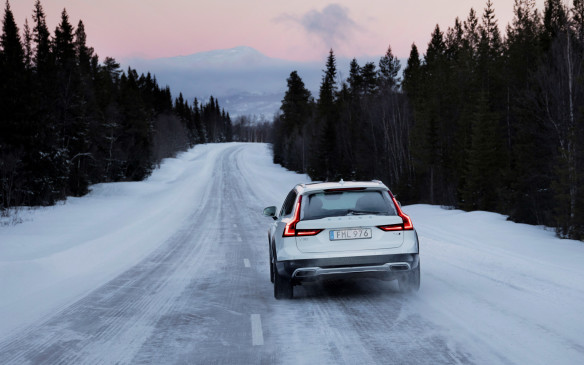 """<p>A solid stance and great balance are essential ingredients of the V90 Cross Country's go-anywhere nature, but it also benefits from an unmatched array of electronic safety systems and driving aids. Of special interest to Canadian drivers, from coast to coast, is the triad of Pilot Assist II, Large Animal Detection and Run-Off Road Mitigation that recently earned the <a href=""""http://www.autofile.ca/en-ca/auto-news/mazda-volvo-win-2017-ajac-technology-awards"""">2017 Best New Safety Technology</a> award from AJAC. All three have effectively stretched the envelope of existing systems to encompass critical driving situations and hazards that previously exceeded their reach or vigilance.</p> <p></p>"""