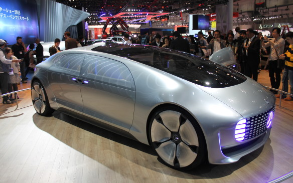 <p>This autonomous car concept by Mercedes-Benz will drive itself. It was first seen at the Consumer Electronics Show (CES) in Las Vegas last January.</p>