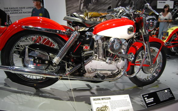 <p>The Sportster came to define Harley-Davidson, when introduced as a performance brand in 1957, even though it was criticized by buyers and reviewers as a low-powered touring machine.</p> <p>This motorcycle was the first to house a 55-cubic inch engine with an overhead-valve unit for Harley-Davidson and newer models benefited from cylinder head design improvements derived from racing which allowed for greater horsepower. Racing models like the XLR and the XR-750 were based on the Sportster.</p>