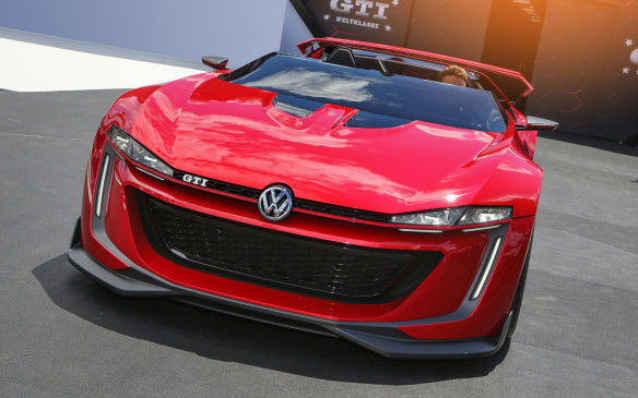 <p>One of the surprises at the CIAS was the Volkswagen GTI Roadster Concept. It's not a real production car, but a concept that only becomes reality in the virtual world of the video game GranTurismo 6. It looks amazing, but unfortunately it's just a tease that's never headed for production.</p>