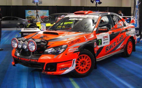 <p>This Subaru rally car, which is rarely seen clean, belongs to well-known Canadian Rally Championship driver, Crazy Leo.</p>