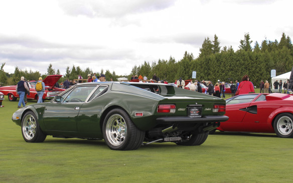 <p>The Exotics class also included this Ford-powered De Tomaso Pantera. The mid-engined Pantera (Italian for Panther), designed by Ghia, was sold by Ford in the U.S. from 1971 to 1975, through its Lincoln-Mercury dealer network.</p>