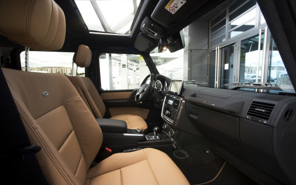 <p>With a ground clearance of 235 mm, you have to take a hop to get into the G 550. It's not as difficult as some Land Rovers, however, so there's no need to hold onto a bar to jolt yourself into the seats. However, getting in may be tricky for vertically-challenged individuals.</p>