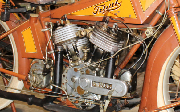 <p>The Traub company of Switzerland still makes industrial machinery, but has no record of ever making a motorcycle. Almost everything is hand-made, though it can be dated by its Schebler carburetor.</p>