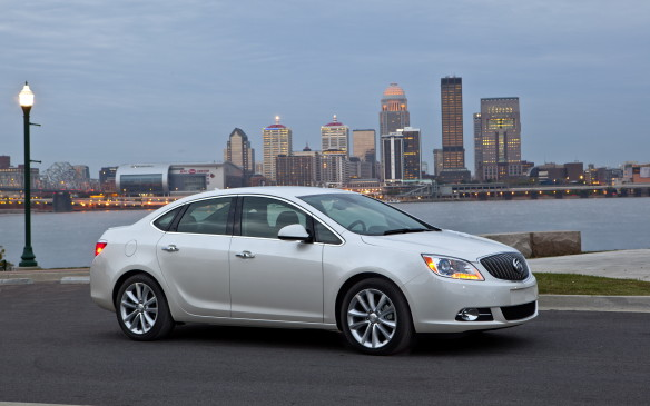 <p>The compact Buick is a sweet-driving car that really does deliver on Buick's signature attribute – it's really, really quiet. Prices start at $23,790, and around $27,400 will get you a mid-trim model with safety bonuses that include lane departure, blind-spot, forward-collision and rear cross-traffic alerts. Apart from the over-$30K Turbo flagship, all Veranos are powered by a 2.4-litre, 180-hp four-cylinder engine paired with a 6-speed automatic.</p>