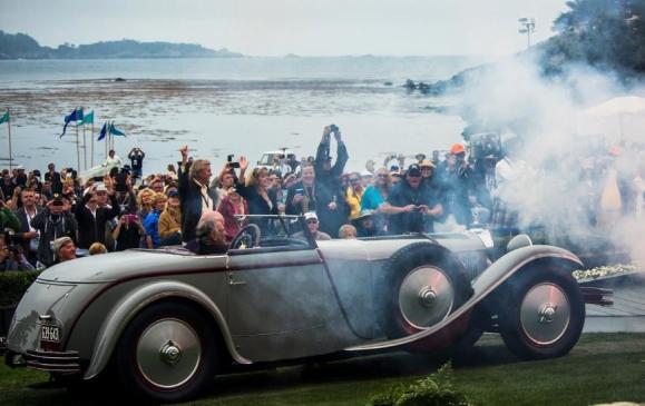 """Best of Show"" at the Pebble Beach Concours d'Elegance 2012: Mercedes-Benz Type S with Saoutchik bodywork, built in 1928. Because of its 6.8-litre engine capacity, the car was also known as Type 680 S."