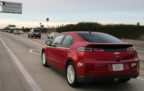 2013 Chevrolet Volt - rear 3/4 view motion