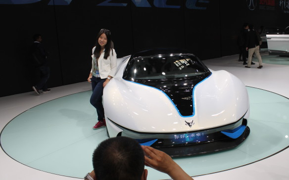 <p>Not so the ArcFox-7 electric supercar concept, a collaboration between Beijing Autos and Campos Racing of Spain, which was popular for photos and selfies.</p>