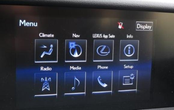 2014 Lexus IS350 - instrument panel detail