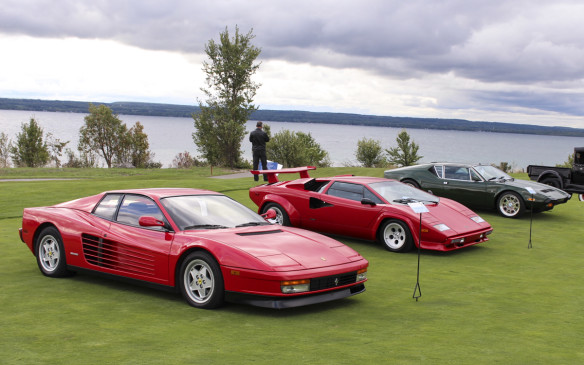 <p>Other prancing horses on the field included this 1994 Ferrari 512 TR – the penultimate Testarossa and the last flat-12-powered Ferrari road car. Behind it are a 1987 Lamborghini Countach 5000 QV and a De Tomaso Pantera.</p>