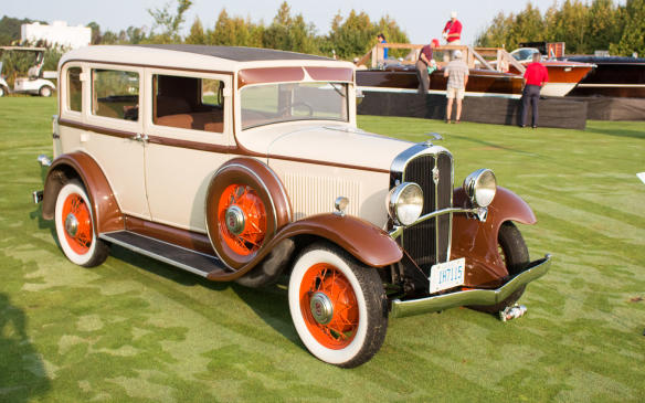 <p>Entries in the class for Pre-War Canadian cars included this rare 1932 Frontenac Model E sedan - one of just four known survivors built by Dominion Motors Limited in that company's short life from 1931 to 1933. Dominion was a successor to Durant's operations in Canada.</p>