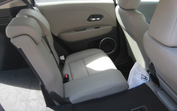 "<p>Of course, since the rear seatback is split 60-40, there are various configurations available with seatbacks up or folded. The unique feature that Fit owners appreciate – the ""tall mode"" where the rear seat bottoms can be locked upright creating a deep, unobstructed well for tall items such as plants or shrubs – is also standard in the HR-V.</p>"