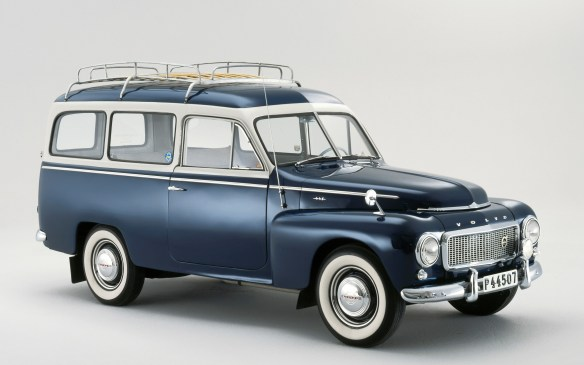 <p><strong>1949-1960 Volvo PV445 Duetto</strong></p> <p>The original 1949 PV445 was actually a chassis-cab version of the 444, with which it shared its front end and mechanical ingredients. Pickup, van and even convertible versions were built by independent coachwork firms. But the 1953 Duetto was Volvo's own work. Although billed as Volvo's first wagon, it was more like a Swedish Suburban; the Duetto could seat seven, or a pair of adults could sleep in the back with the seats folded.</p>