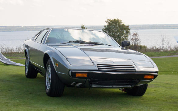 "<p>The winner in the Exotics class was this rare 1977 Maserati Khamsin, which had a <a href=""http://www.autofile.ca/en-ca/auto-articles/storied-maserati-khamsin-coming-to-cobble"">back-story</a> as intriguing as the car itself.</p>"