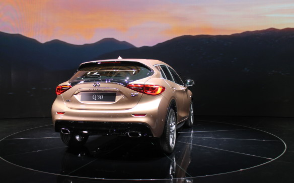 <p>Don't confuse the hatchback Infiniti Q30 with the QX30, which will be a very similar compact crossover with all-wheel drive. It will debut in November at the Los Angeles auto show.</p>