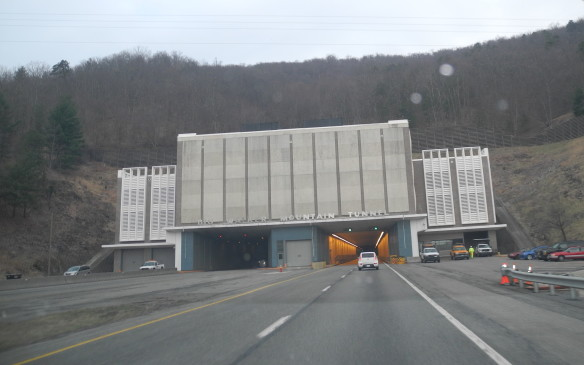 <p>Interstate I-77 tunnels make short work of two mountain ridges in the Appalachians.</p>