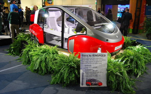 <p>But this is like no other. Seats two. In a bubble, no less. Has an electric range of 100km. A top speed of 130km/h (or more). A completely electric autonomous vehicle. The first we've seen? Maybe. The first of many to come? Definitely.</p>