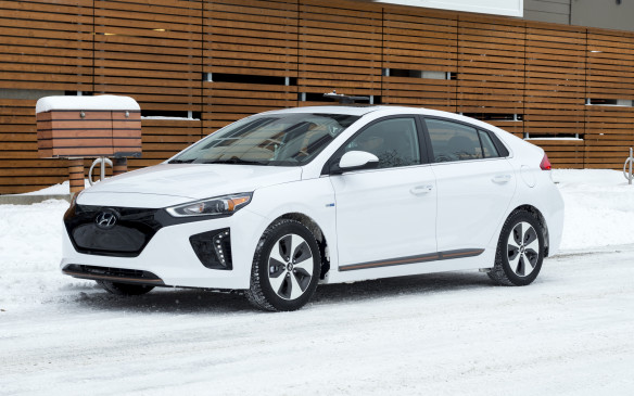 <p>The Ioniq badge is a new one for Hyundai that will be carried on all of the brand's electric-powered vehicles. The conventional hybrid and fully battery electric models are set to land in dealerships shortly, while the plug-in hybrid is slated for later this year. What we know about the EV version so far is that it has up to a 200-kilometre range and is expected to be priced starting in the neighbourhood of $35,000.</p>