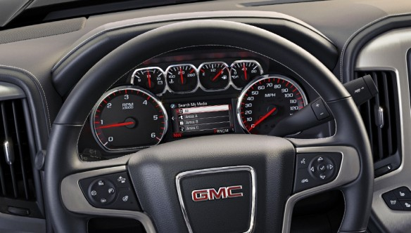 2014 GMC Sierra SLT - steering wheel and instrument cluster