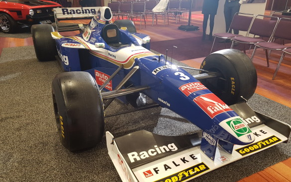 <p><strong> Canada's only World Champion - </strong>The next great achievement left for a Canadian racer would be to win a World Championship, and this is the car in which it was done: Jacques Villeneuve, son of Gilles, drove this Williams FW19 to first place in the point standings in the 1997 season in only his second year of Formula One competition. It was a title won under dramatic circumstances: points leader Michael Schumacher attempted to crash Villeneuve out of the final round at the European Grand Prix, leading the German to ultimately be disqualified from the season standings.</p>