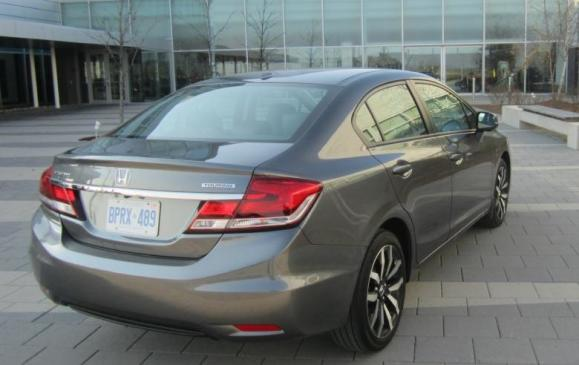 2013 Honda Civic sedan - rear 3/4 view low