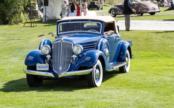 <p>The winner in the Pre-War American Productionclass was this1934 Graham Custom Eight Model 69 convertible with a supercharged straight-eight engine.</p>