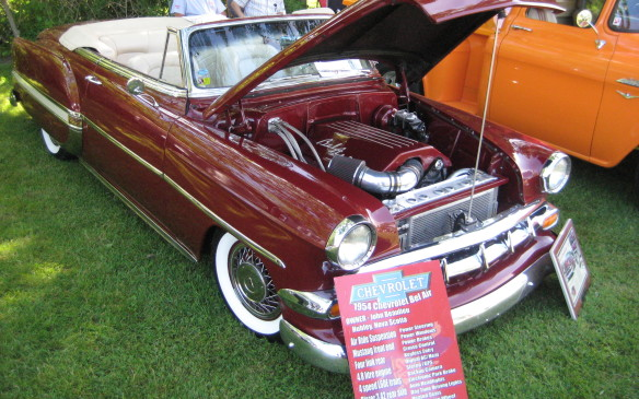 "<p>Participants come to the Fleetwood show from near and far, including John Beaulieu, who drove his gorgeous 1954 Chevrolet Bel Air convertible from Hubley, Nova Scotia. (<a href=""http://www.autofile.ca/en-ca/car-photos/resurrecting-a-60-year-old-classic-step-by-step"">See full gallery on the car's restoration here.</a>)</p>"
