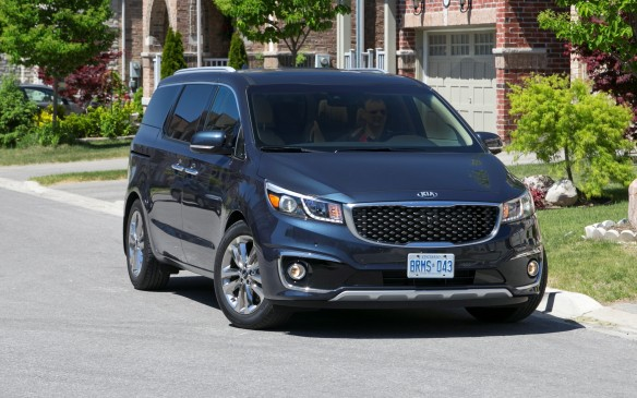 <p>After years of watching other minivans eat its lunch in the segment, Kia upped its game with a reconstituted Sedona minivan for 2015. Last redesigned in 2006, the new Sedona is sleeker than its predecessor, so much so that it just might be the best-looking vehicle with sliding doors. Kia used high-strength steel, structural adhesives and large-diameter welds to boost torsional stiffness 36% higher than any competing van. It's quieter than the Sienna and Odyssey, but Chrysler's Town & Country still may be the librarian's choice. Its long wheelbase yields lots of legroom for middle-row occupants, but the third row and cargo hold appear to be a little pinched. Blame the van's tapered profile.</p>